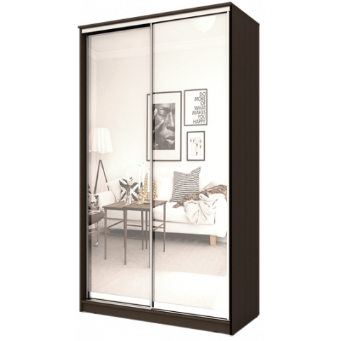 2-х дверный 2200х1682х420 с двумя зеркалами ХИТ 22-4-17-55 Венге Аруба