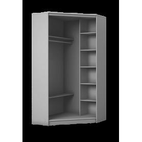 Угловой шкаф ГШУ-24-4-10-55, 2 двери Зеркало, Венге