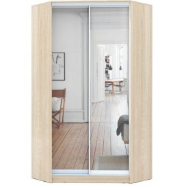 Угловой шкаф ГШУ-23-4-10-55, 2 двери Зеркало, Дуб Сонома