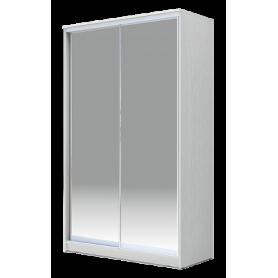 Шкаф-купе 2-х дверный 2300х1200х620 Хит-23-12/2-88, Матовое стекло Белый