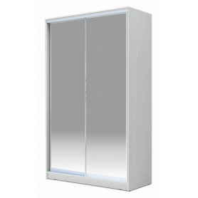 Шкаф-купе 2-х дверный 2400х1362х420 Хит-24-4-14-88, Матовое стекло Белый