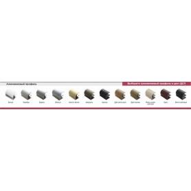 Шкаф-купе ГШ-24-6-10-13, зеркало-пескоструй/ДСП/ ДСП/зеркало-пескоструй, Белый/Роял/Серебро