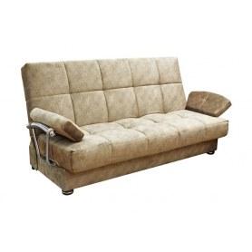 Прямой диван Милана 6 БД с хром. подлокотниками