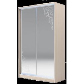 Шкаф-купе 2-х дверный 2400х1682х420 два зеркала, рисунок