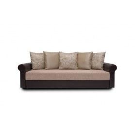 Прямой диван Дублин, цвет SDB / Наполи / Romb / Roksana (ткань/кожзам)