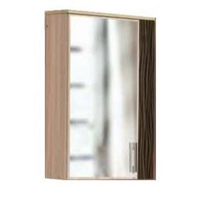 Шкаф навесной с зеркалом Стиль-1, МП-1, шимо темный/шимо светлый