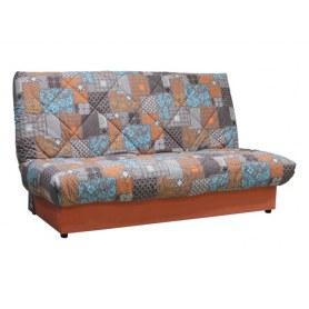 Прямой диван Матильда new, patchwork orange brown/vital mango