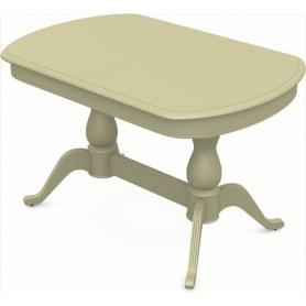 Обеденный раздвижной стол Фабрицио-2 исп. Мыло 1400, Тон 10 (Морилка/Эмаль)