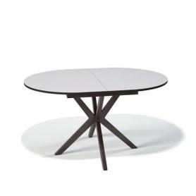 Кухонный раздвижной стол Kenner B1300 (Венге/Стекло белый сатин)