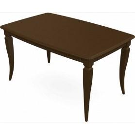 Обеденный раздвижной стол Сибарит 140х80, тон 4 (Морилка/Эмаль)