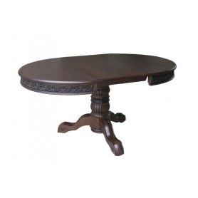 Кухонный стол Милорд 110х160, Орех + Патина