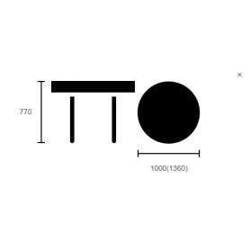 Обеденный стол Альт-Ново-1 Орех артемида