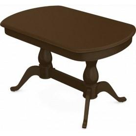 Обеденный раздвижной стол Фабрицио-2 исп. Мыло 1600, Тон 4 (Морилка/Эмаль)