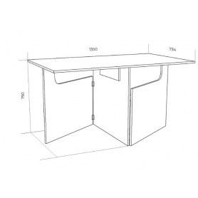 Кухонный стол ХИТ -СО-6 складной, Дуб молочный
