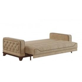 Прямой диван Савой, Велюр Lama 02 Beige