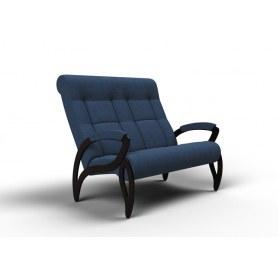 Прямой диван Зельден, ткань синий