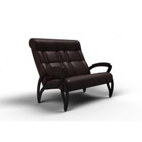 Прямой диван Зельден, экокожа венге