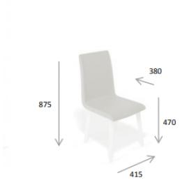 Кухонный стул Kenner 121М черный/горчичный