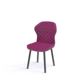Кухонный стул Kenner 124S черный/фуксия