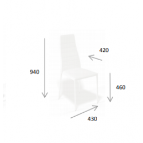 Кухонный стул Kenner 107S лаванда
