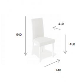 Кухонный стул Kenner 101C белый/бежевый