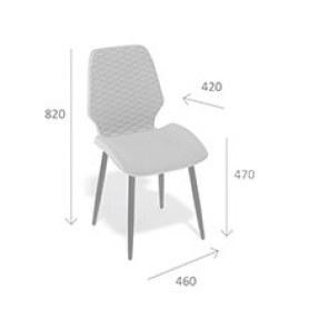 Кухонный стул Kenner 127S черный/желтый