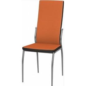 Обеденный стул Мартини 2-х цветный окраш (Nitro Orange - Brown)