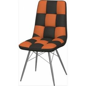 Обеденный стул Бордо-2 2-х цветный (Nitro Brown - Orange)