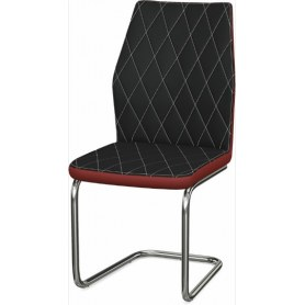Обеденный стул Шато ромб 2-х цветный  (Nitro Black - Red)