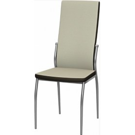 Обеденный стул Мартини 2-х цветный окраш (Punto Cream - Brown)