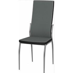 Обеденный стул Мартини 2-х цветный хром (Nitro Grey - Black)