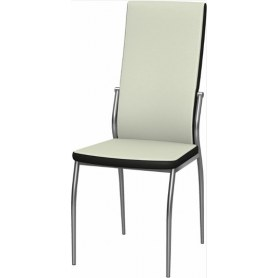 Обеденный стул Мартини 2-х цветный окраш (Ottawa Milk - Black)