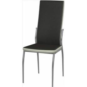 Обеденный стул Мартини 2-х цветный хром (Ottawa Black - Milk)