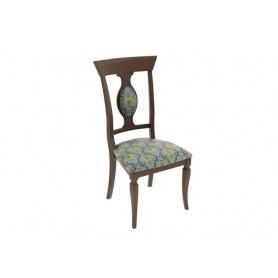 Обеденный стул Денвер, цвет Орех темный/тк. №41 Бирюзовая Б-505