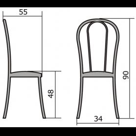 Кухонный стул В-1 ч/к, кожзам, синий