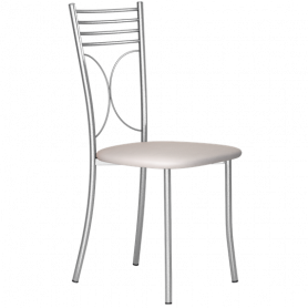 Кухонный стул Б-205 металлик, кожзам, светло-серый