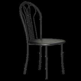 Кухонный стул В-1 ч/к, кожзам, черный