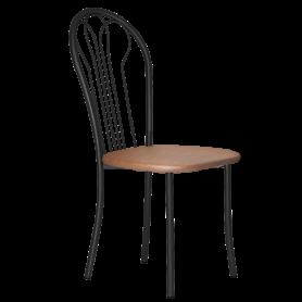 Кухонный стул В-1 ч/к, кожзам, коричневый