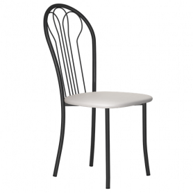Кухонный стул В-1 ч/к, кожзам, светло-серый