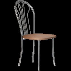 Кухонный стул В-1 хром, кожзам, коричневый