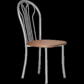 Кухонный стул В-1 металлик, кожзам, коричневый