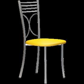 Кухонный стул Б-205 хром, кожзам, ярко-желтый