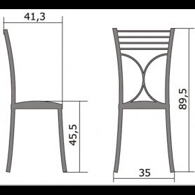 Кухонный стул Б-205 металлик, кожзам, персиковый(перламутр)