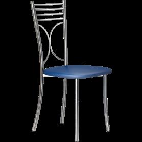 Кухонный стул Б-205 хром, кожзам, синий(перламутр)