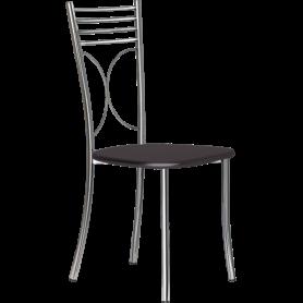 Кухонный стул Б-205 хром, шоколадное дерево