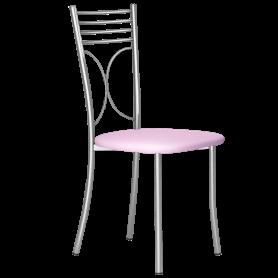 Кухонный стул Б-205 металлик, кожзам, бледно-сиреневый