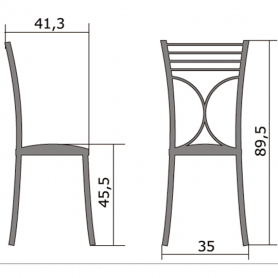 Кухонный стул Б-205 хром, кожзам, песочный(перламутр)