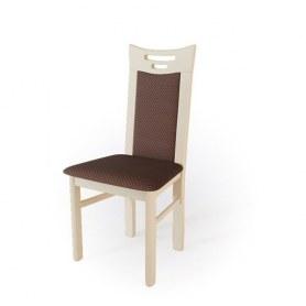 Кухонный стул  Юля Выбеленный бук/ткань Longoria Legato chocolate