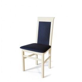 Кухонный стул Алла Слоновая кость/ткань Жаккард синий