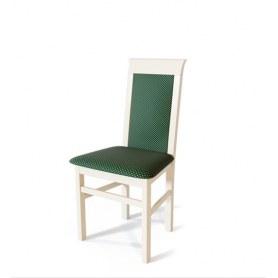 Кухонный стул Алла Выбеленный бук/ткань Жаккард зеленый